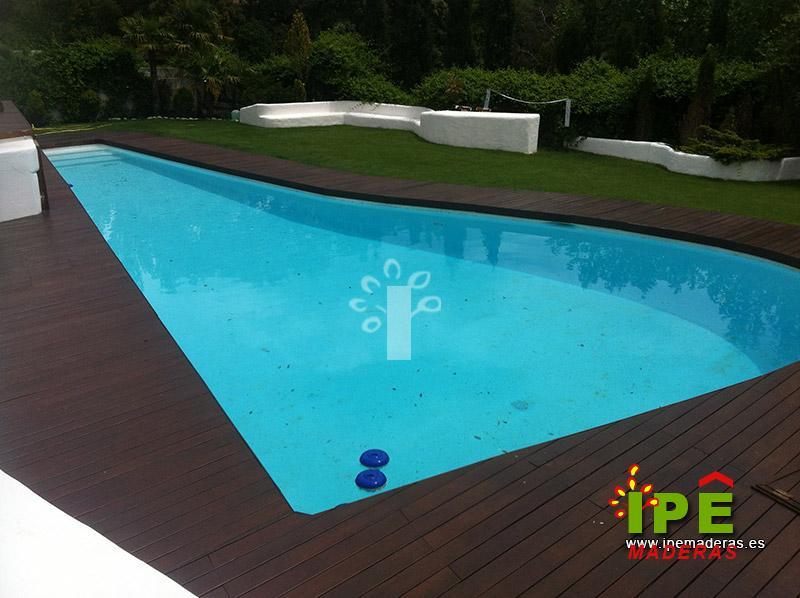 Maderas para piscinas latest piscinas de madera para el - Suelos para piscinas ...