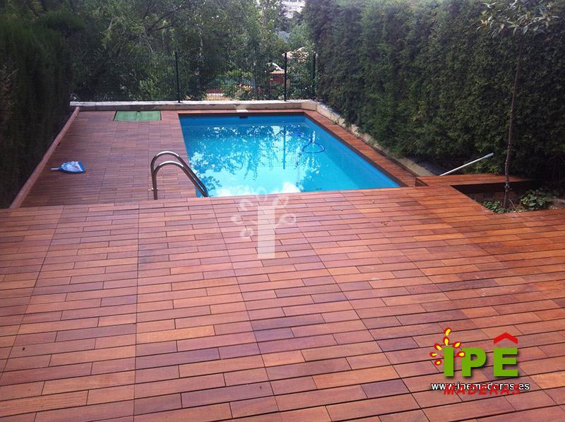Tarima para piscinas tarima de exterior piscinas for Piscinas precios baratos