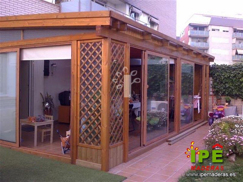 Venta de acristalados ipe maderas for Terrazas cerradas con madera