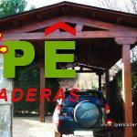 garaje de madera a dos aguas
