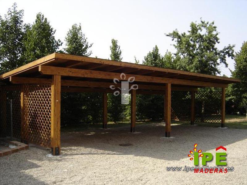 Garajes de madera para exterior