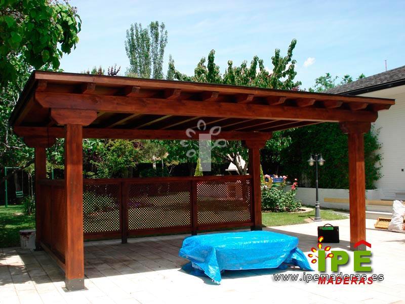 Cenadores de madera venta e instalaci n ipe maderas - Cenadores de madera para jardin ...