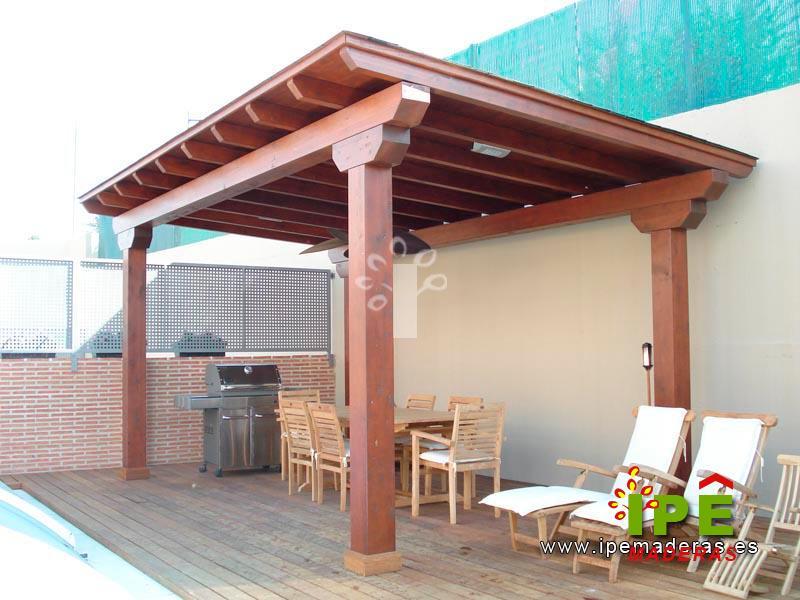Porches de madera venta e instalaci n ipe maderas - Porches rusticos cerrados ...