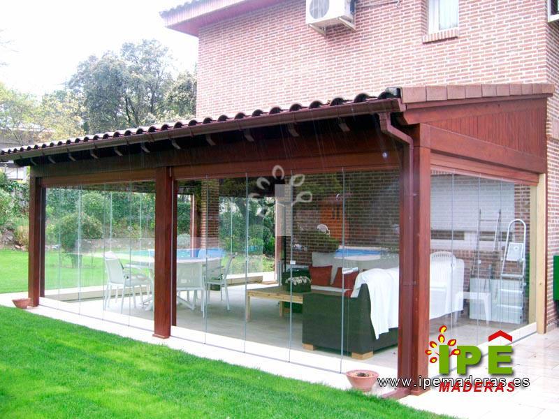 Porches de madera venta e instalaci n ipe maderas - Porches de madera cerrados ...
