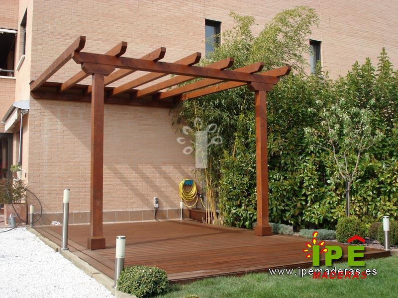 P rgolas de madera venta e instalaci n de p rgolas ipe for Como construir una pergola