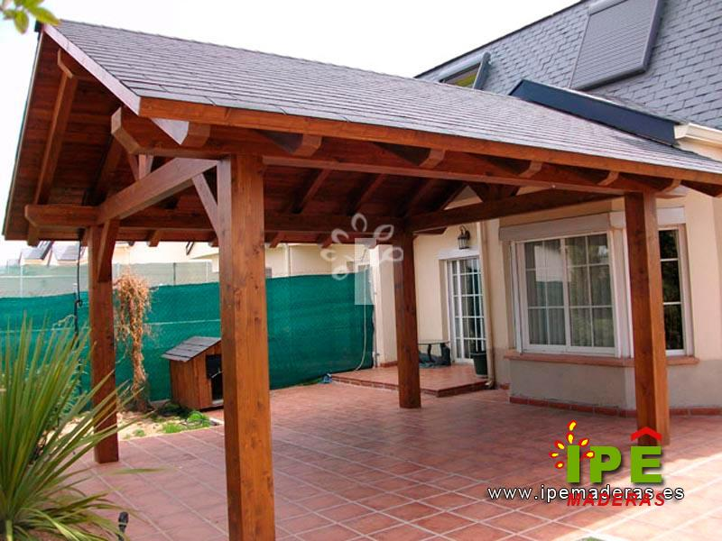Porches de madera venta e instalaci n ipe maderas - Como hacer porche de madera ...