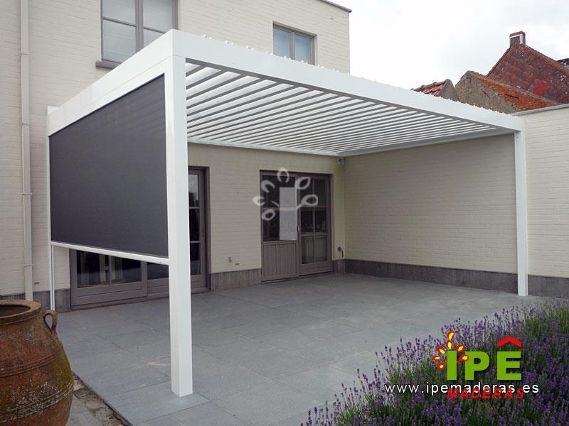 P rgolas con lamas de aluminio venta e instalaci n de - Pergolas en aluminio ...
