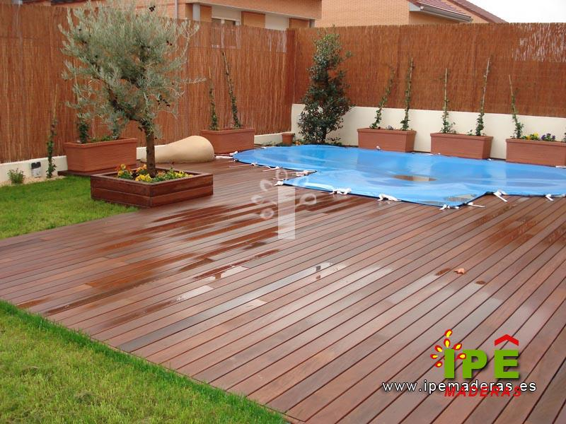 Tarima de madera para exterior tarima de exterior para - Tarima para piscinas ...