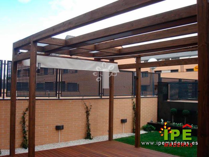 P rgolas de madera venta e instalaci n de p rgolas ipe maderas - Pergola de madera ...