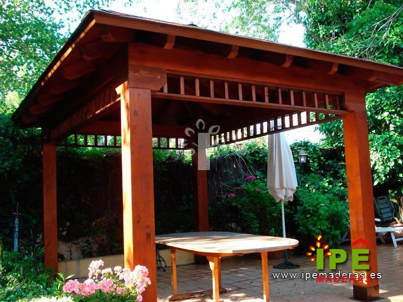 affordable porches y cenadores ipe maderas with precio de porches de madera with cenadores de madera precios - Cenador De Madera