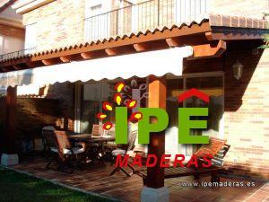 terraza cenador de madera