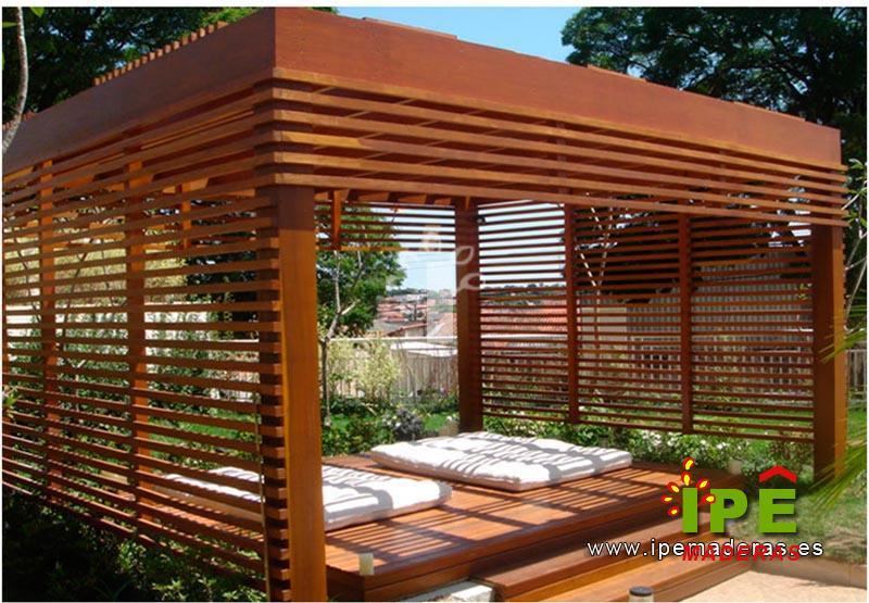 P rgolas de madera venta e instalaci n de p rgolas ipe - Cenadores de madera para jardin ...