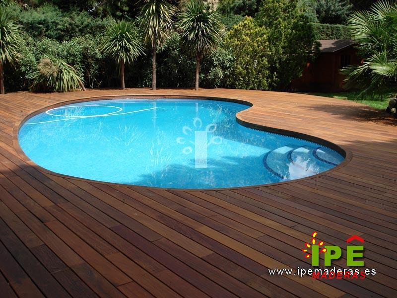 Venta de tarimas de madera ipe cumar e itauba ipe for Jardines alrededor de piscinas