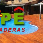 Tarima IPE para piscinas
