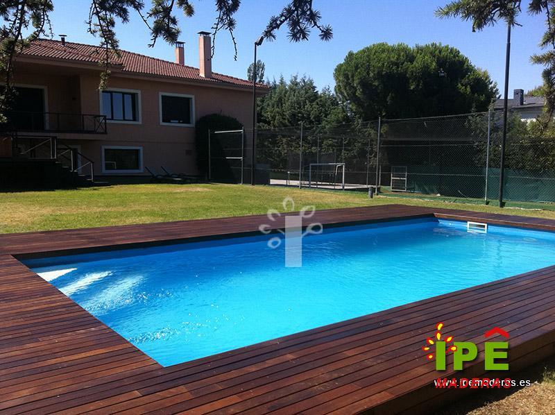 4 ejemplos de tarima de madera para piscinas ipe maderas - Piscinas de madera baratas ...
