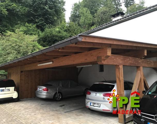 Garaje de madera a medida para vivienda en Pozuelo